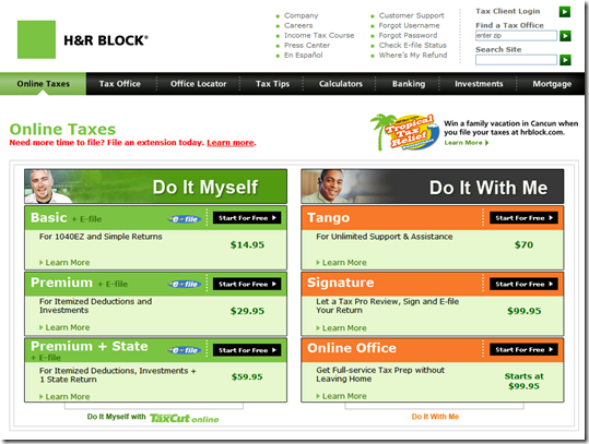 Tax Prep 2 0 Does H R Block S Tango Provide A New Model For Pricing