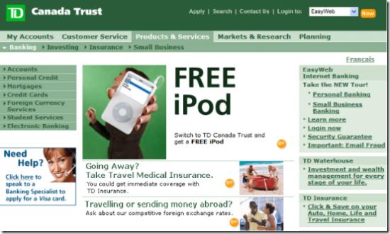 Key Bank Gives Away iPod nanos for Free Checking Accounts - Finovate