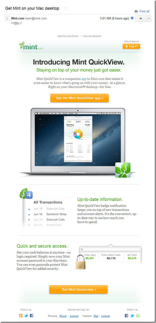 Mint Launches Mac App: Mint QuickView - Finovate