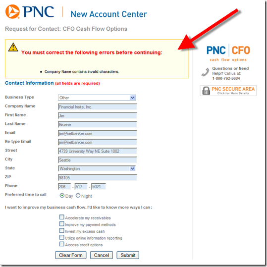 pnc small business account