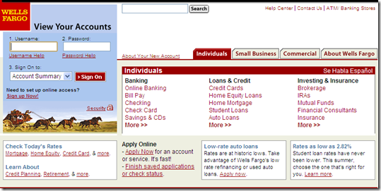 Before and After: Wells Fargo's New Website Design - Finovate