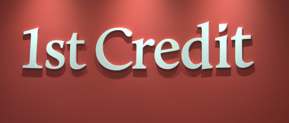 1st Credit Sign