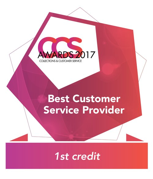Best Customer Service Winner 2016 1st Credit