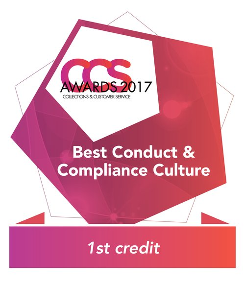 Best Conduct and Compliance Culture Winner 2016 1st Credit