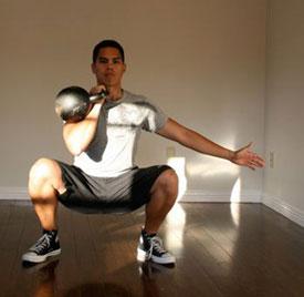 kettlebell front squat
