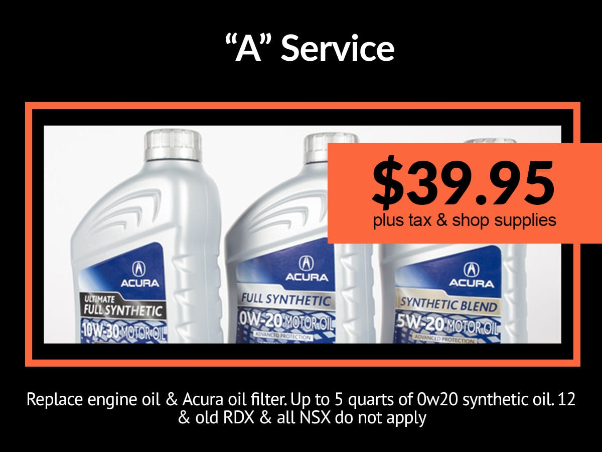 A-1 Maintenance Minder Service | Mile High Acura Denver, CO