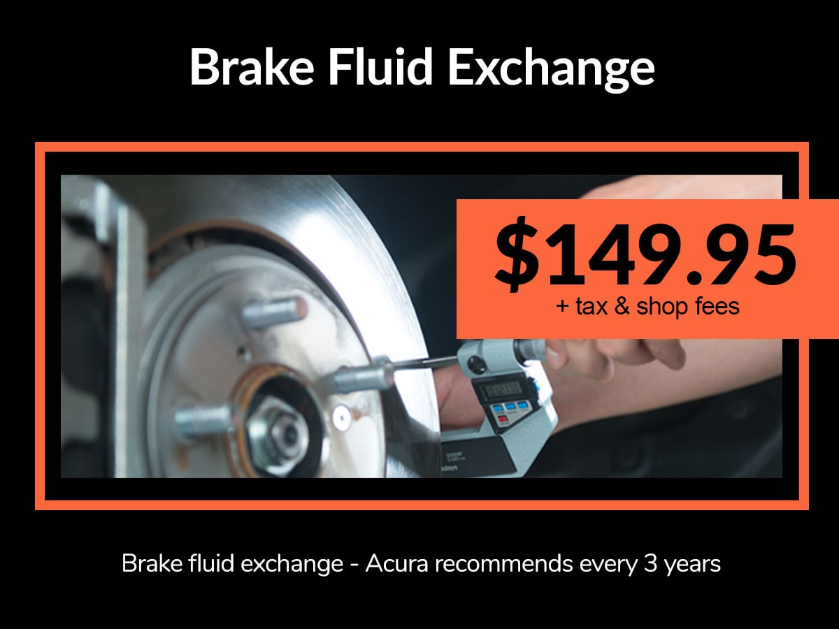 Brake Fluid Exchange Service Coupon from Mile High Acura Denver, CO