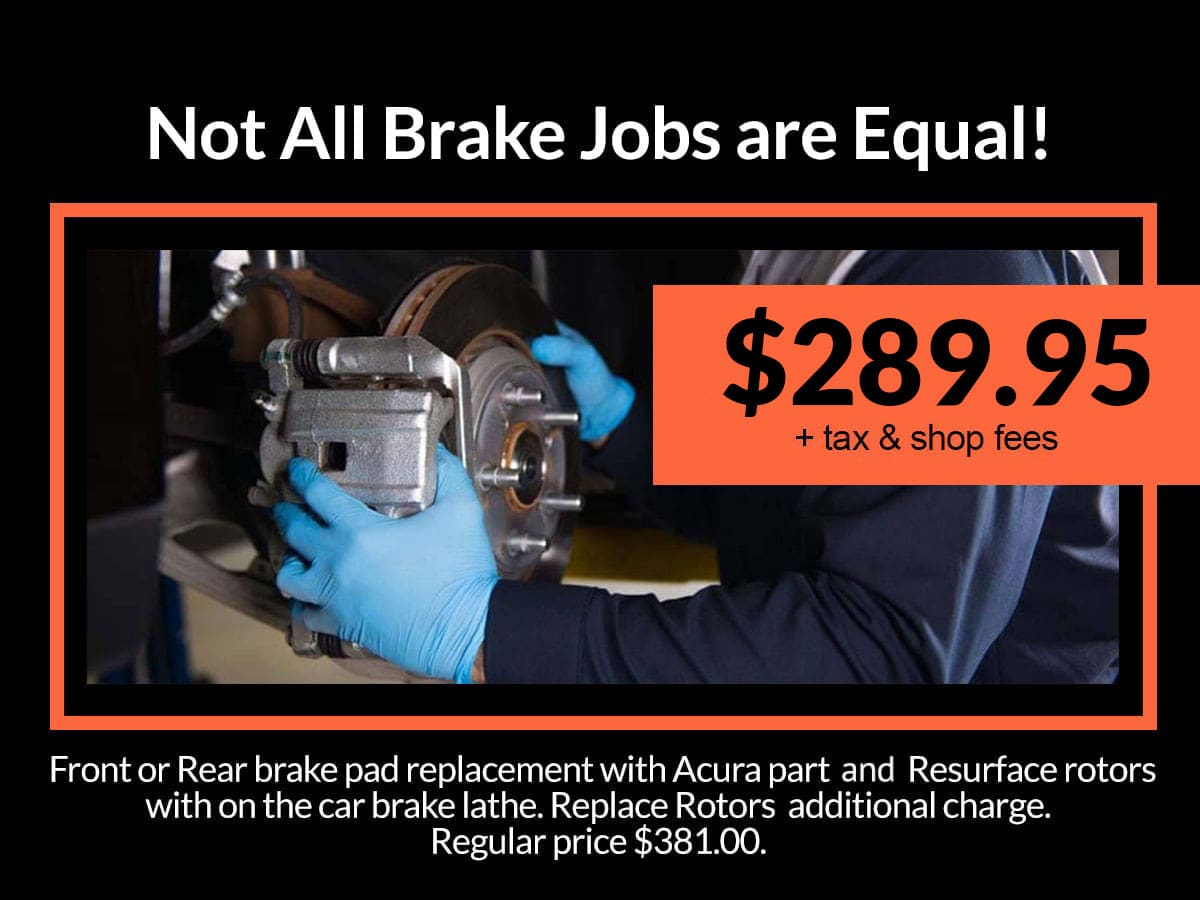Brake System Service Coupon from Mile High Acura Denver, CO