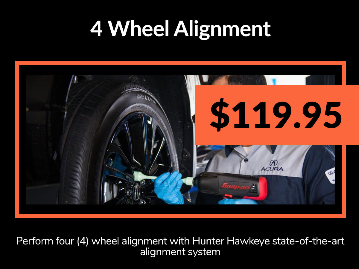 Acura 4 Wheel Alignment Service Coupon Denver