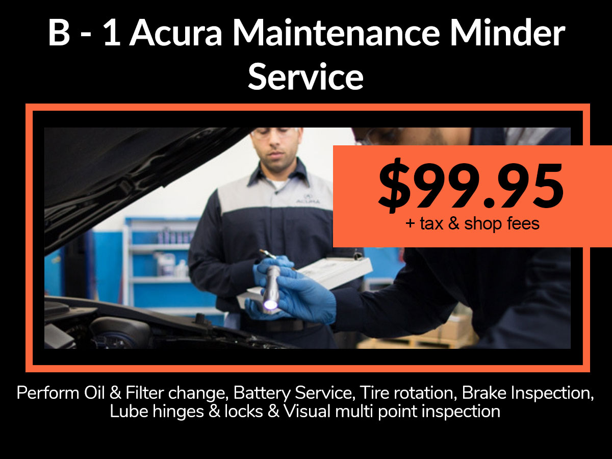 Acura B-1 Maintenance Service Discount Coupon