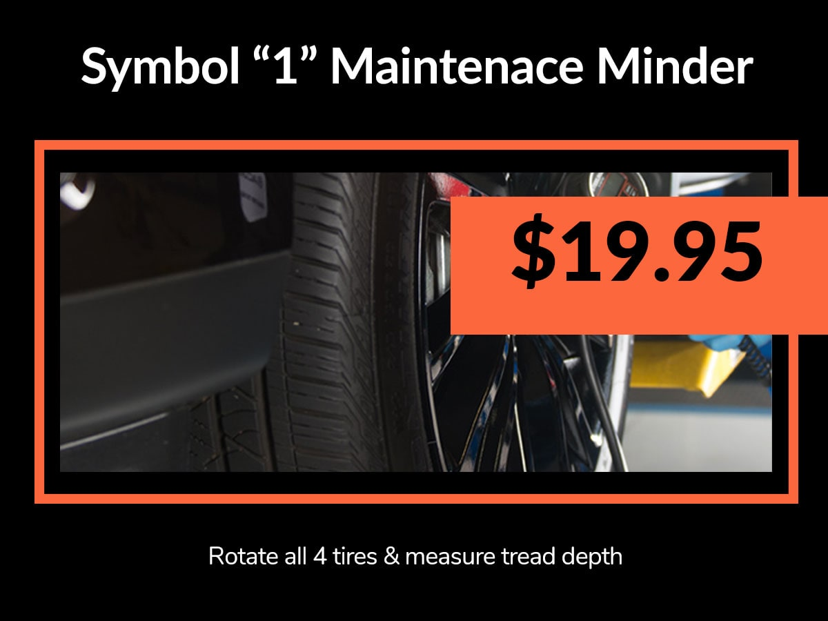 "Symbol ""1"" Maintenance Minder Coupon from Mile High Acura Denver, CO"