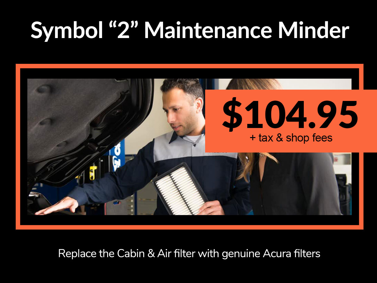 Acura Engine Air Filter Replacement Service Coupon