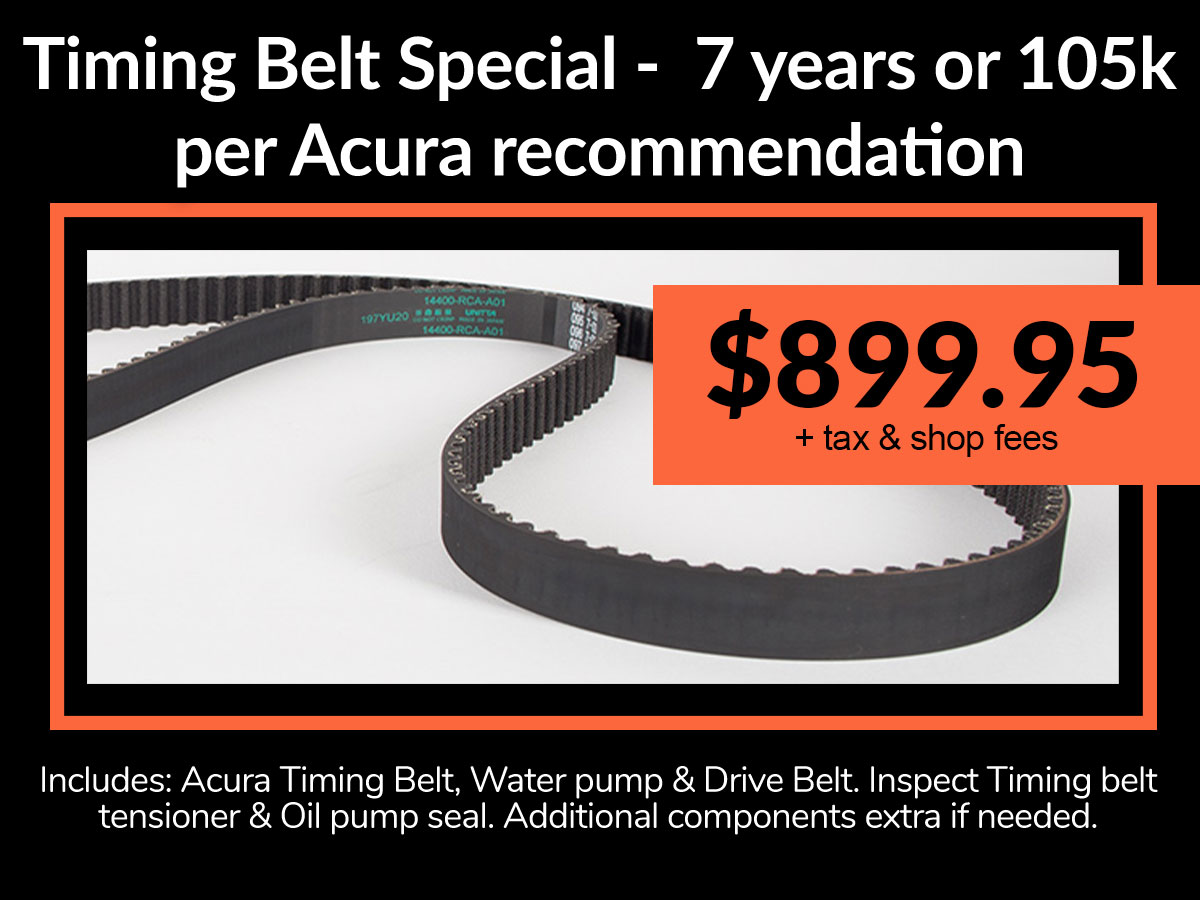 Acura Timing Belt Coupon Denver