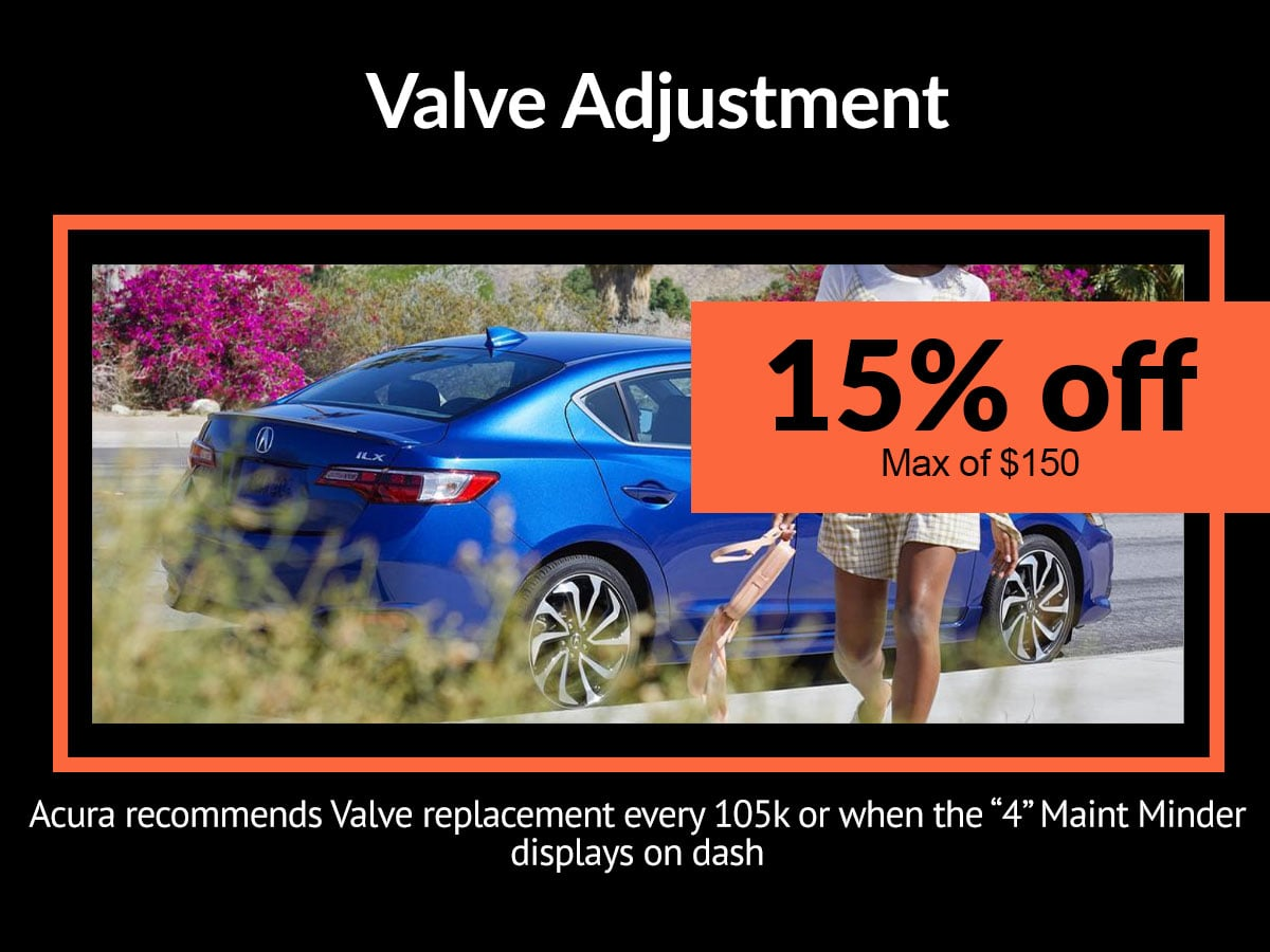 Acura Valve Adjustment Coupon Denver