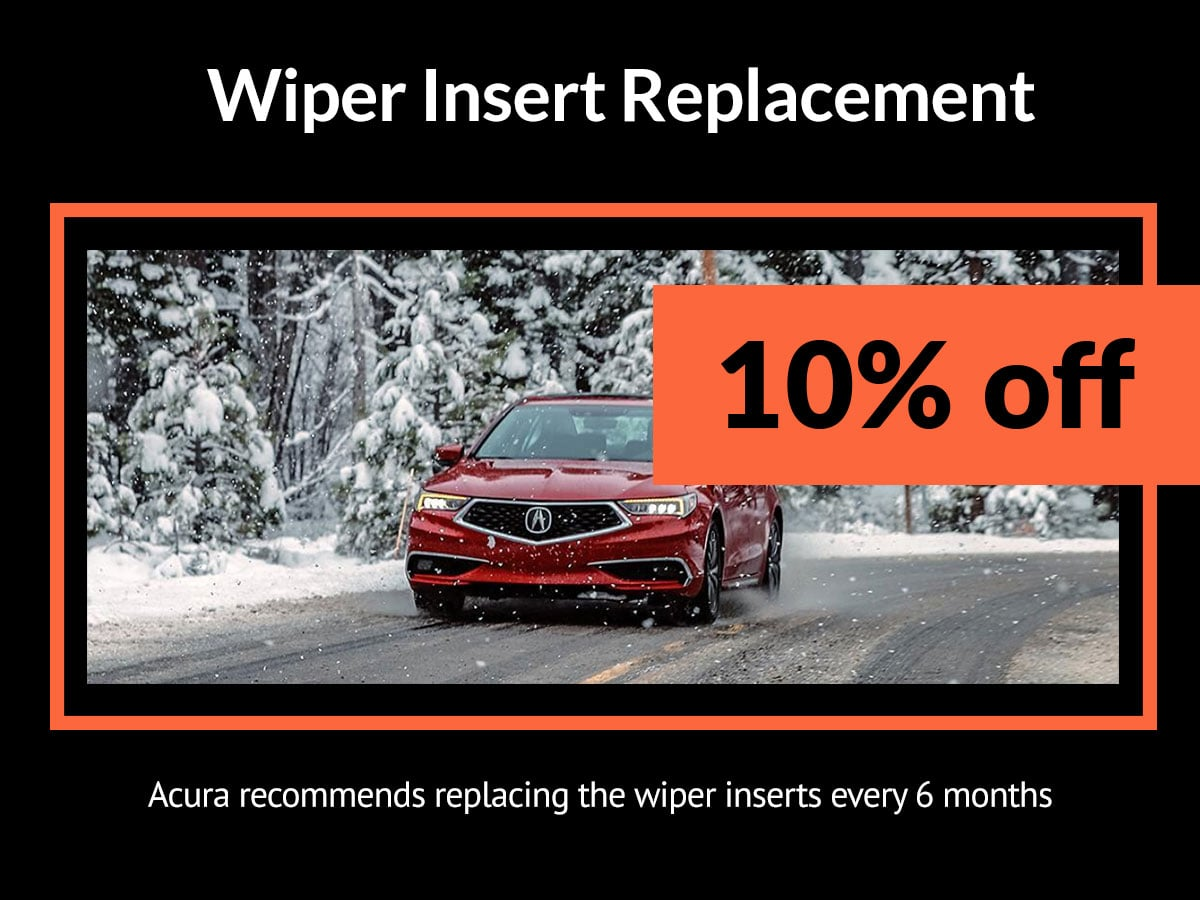 Acura Wiper Insert Replacement Service Coupon Denver