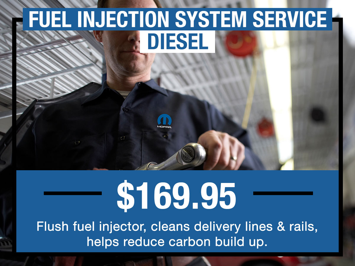 Fuel Injection System Diesel Service Special Coupon