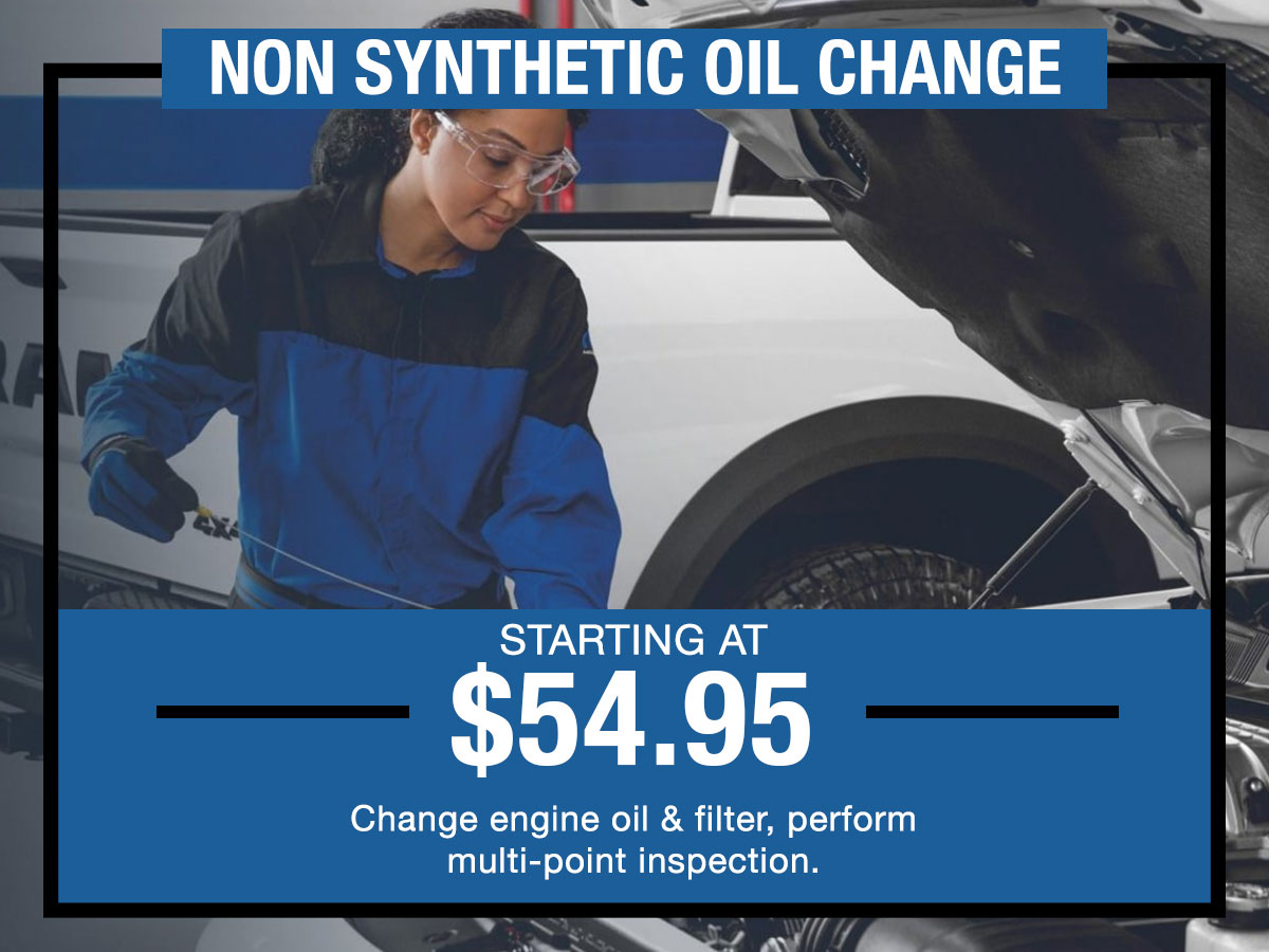 Non Synthetic Oil Change Service Special I-5 Chrysler Dodge Jeep RAM Chehalis, WA