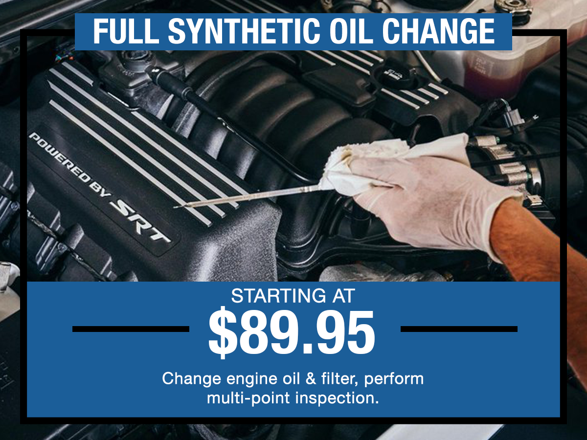 I-5 Dodge Chrysler Jeep Ram Full Synthetic Oil Change Coupon