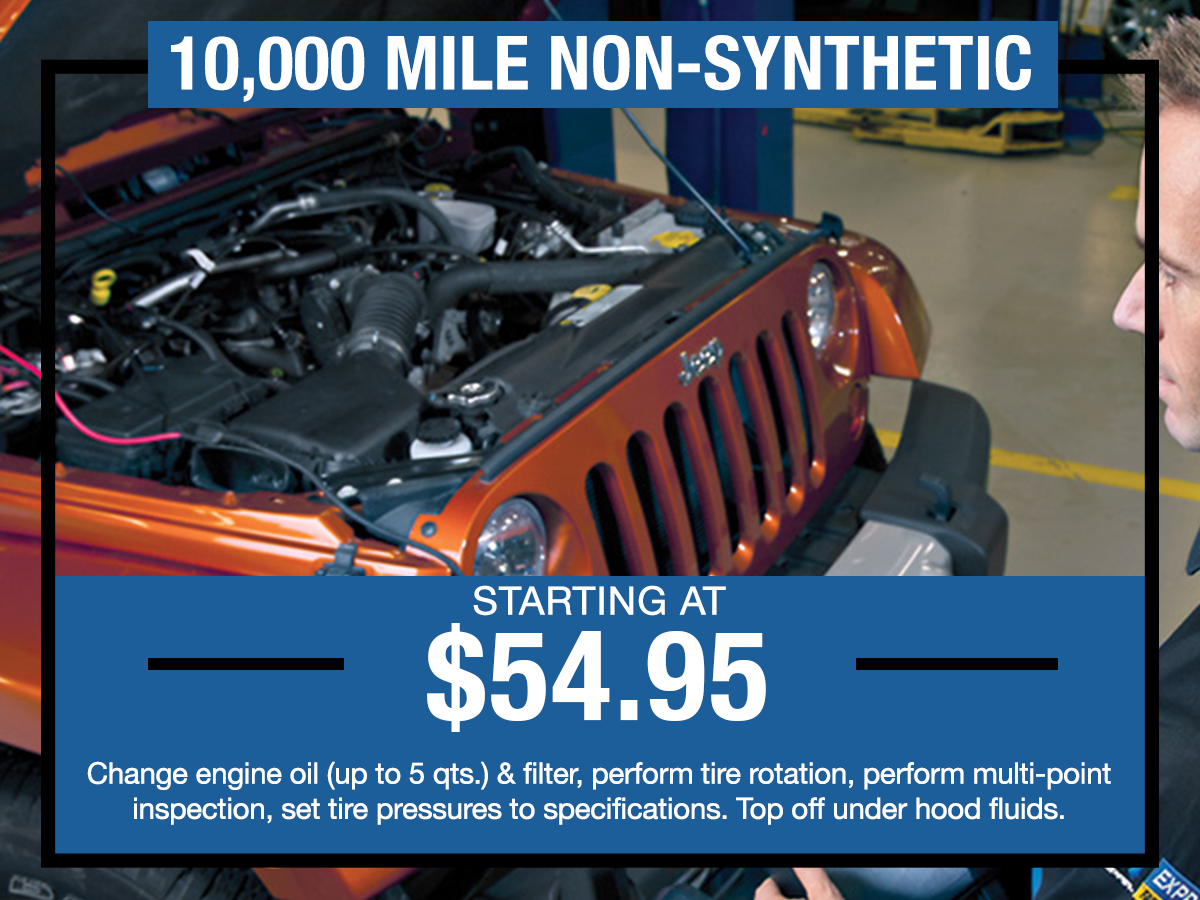 10,000 Mile Non-Synthetic Service Coupon I-5 Chrysler Dodge Jeep Ram Fiat