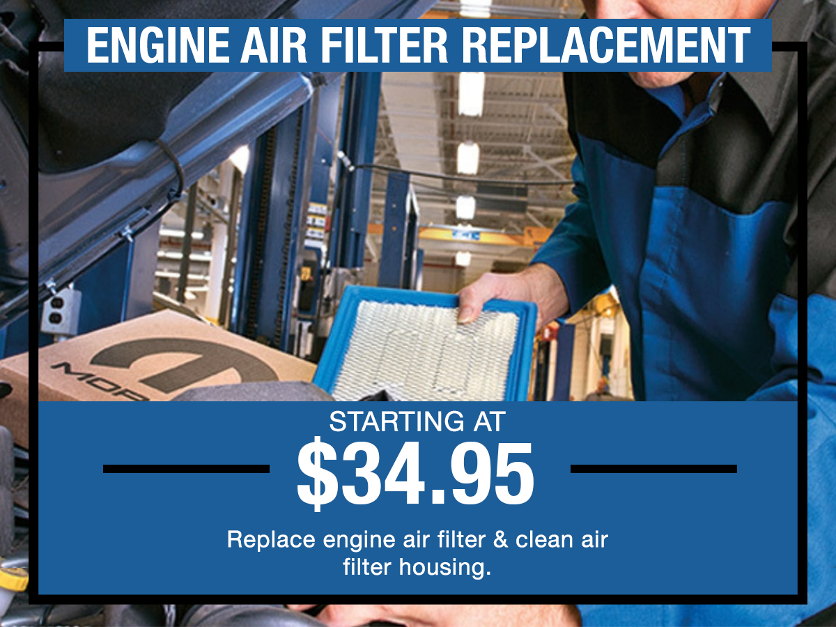 Engine Air Filter Replacement Service Special I-5 Chrysler Dodge Jeep RAM Chehalis, WA