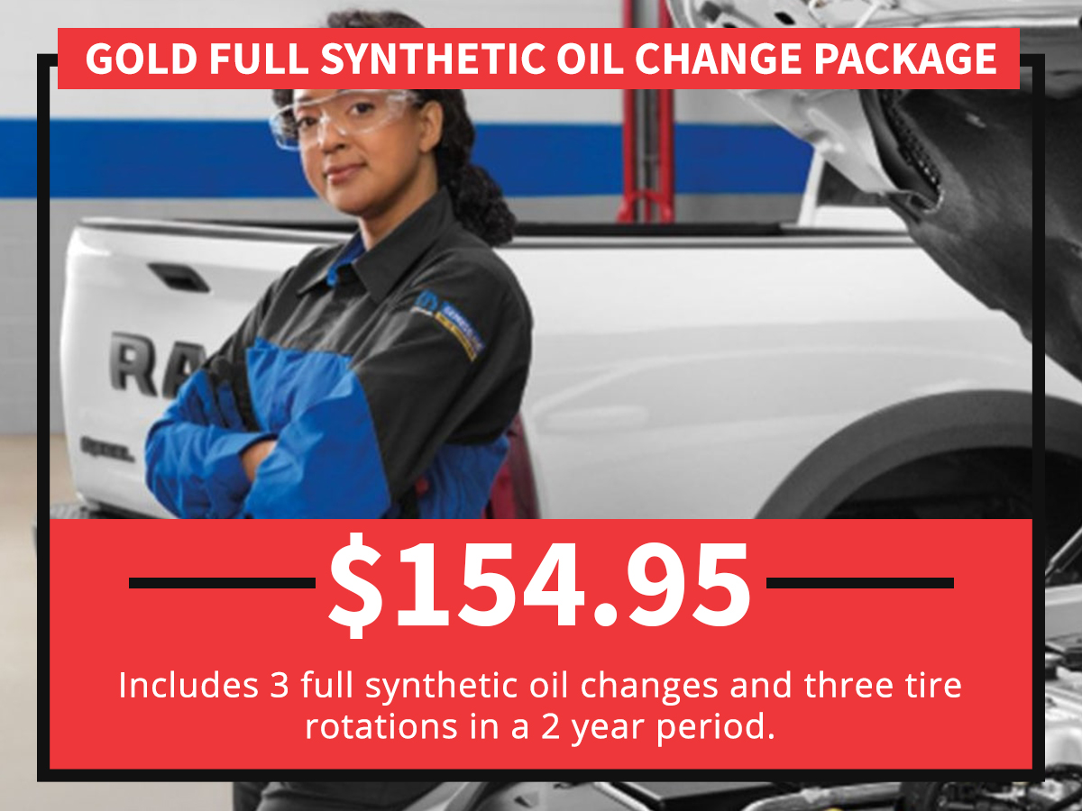 Gold Full Synthetic Blend Oil Change Package Special