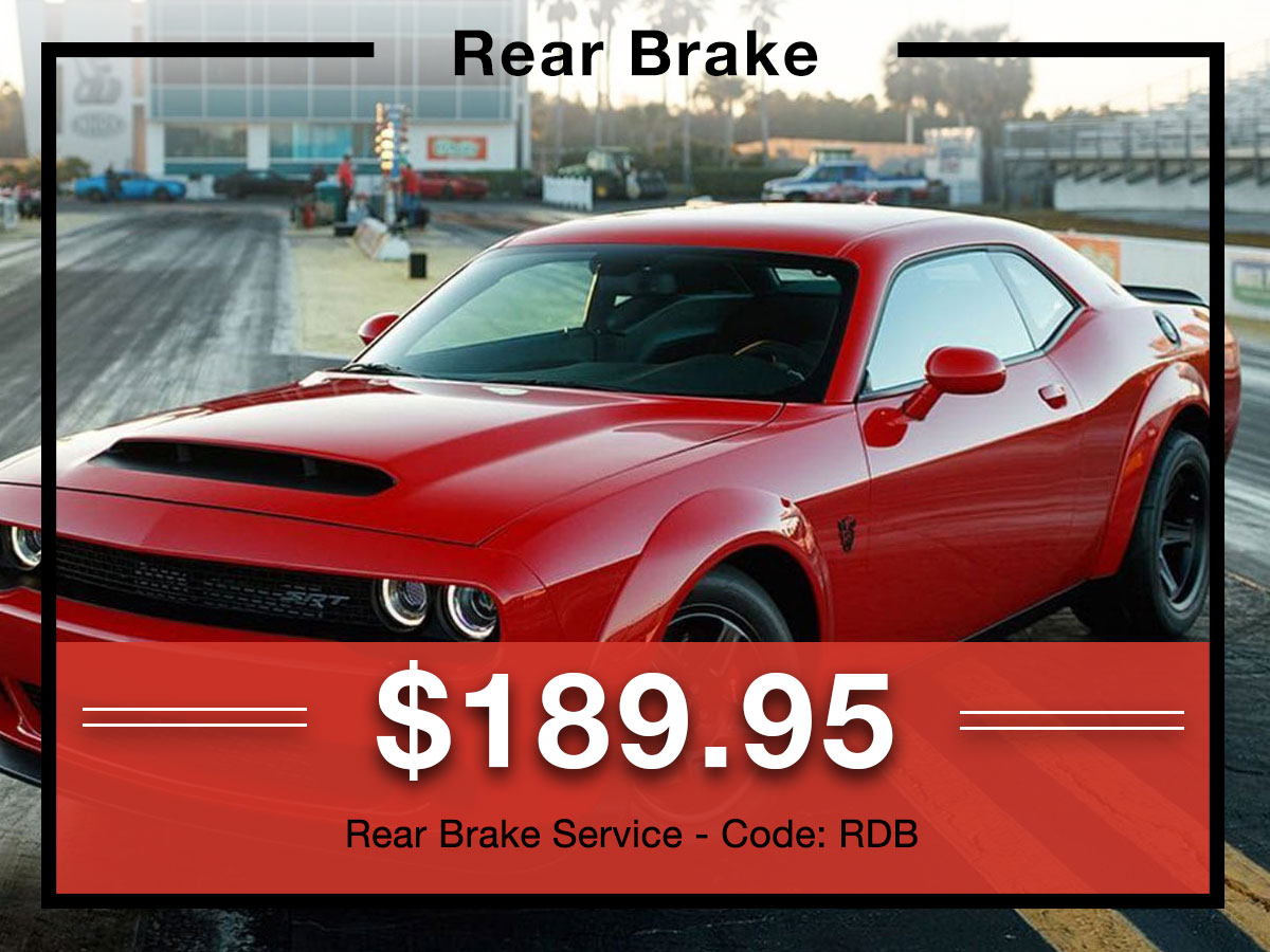 Rear Brake Service Special Coupon Briggs Dodge Ram Fiat