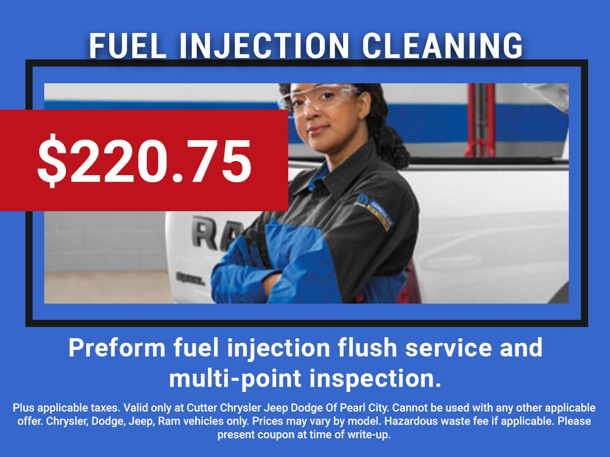 Pearl City CDJR Fuel Injection Flush & Multi-Point Inspection Coupon