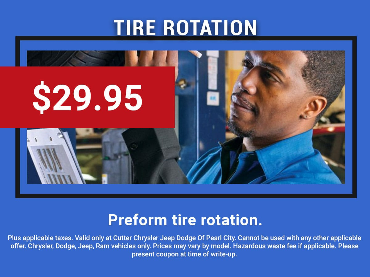 Pearl City CDJR Tire Rotation Service Coupon