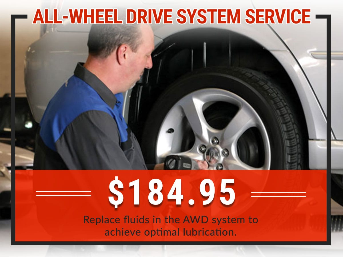 All-Wheel Drive System Service Coupon