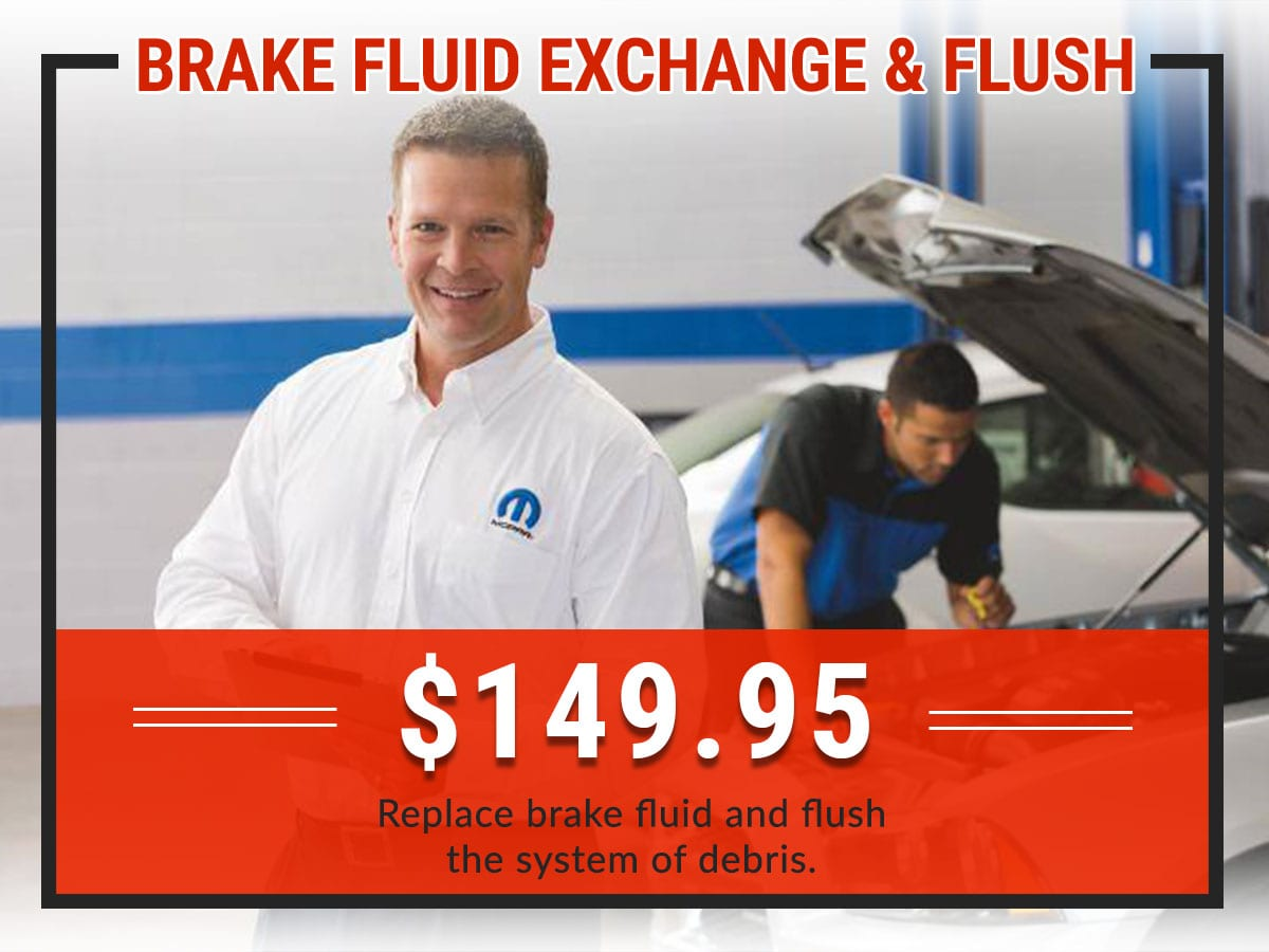 Brake Fluid Exchange & Flush Service Coupon