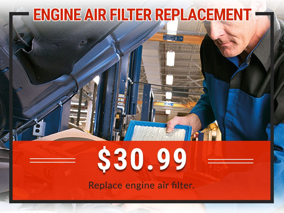 Air Filter Replacement Service Coupon