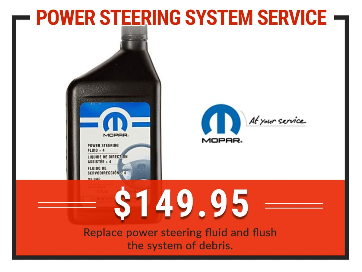 Power Steering System Service Coupon