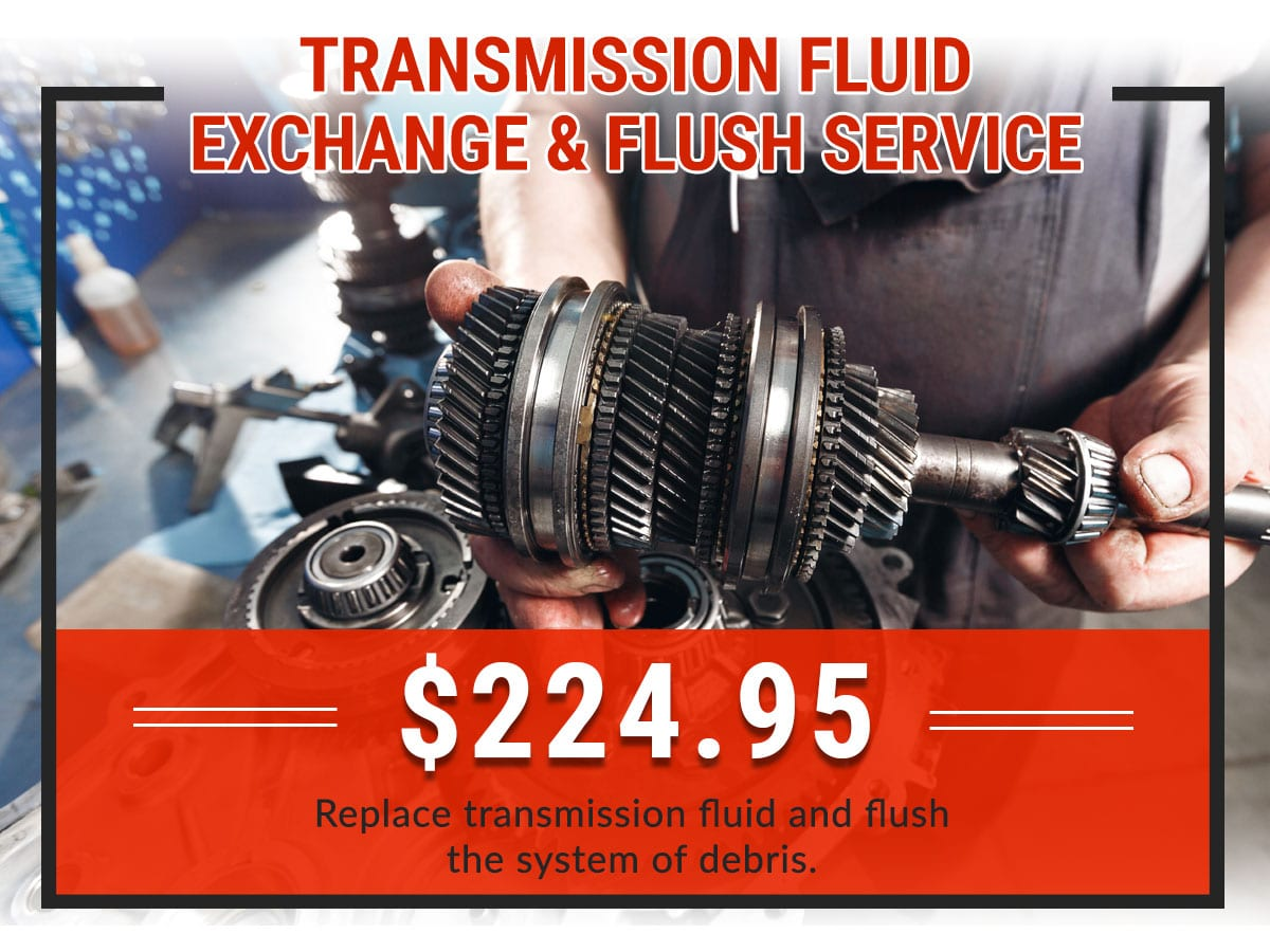 Transmission Fluid Exchange & Flush Service Coupon