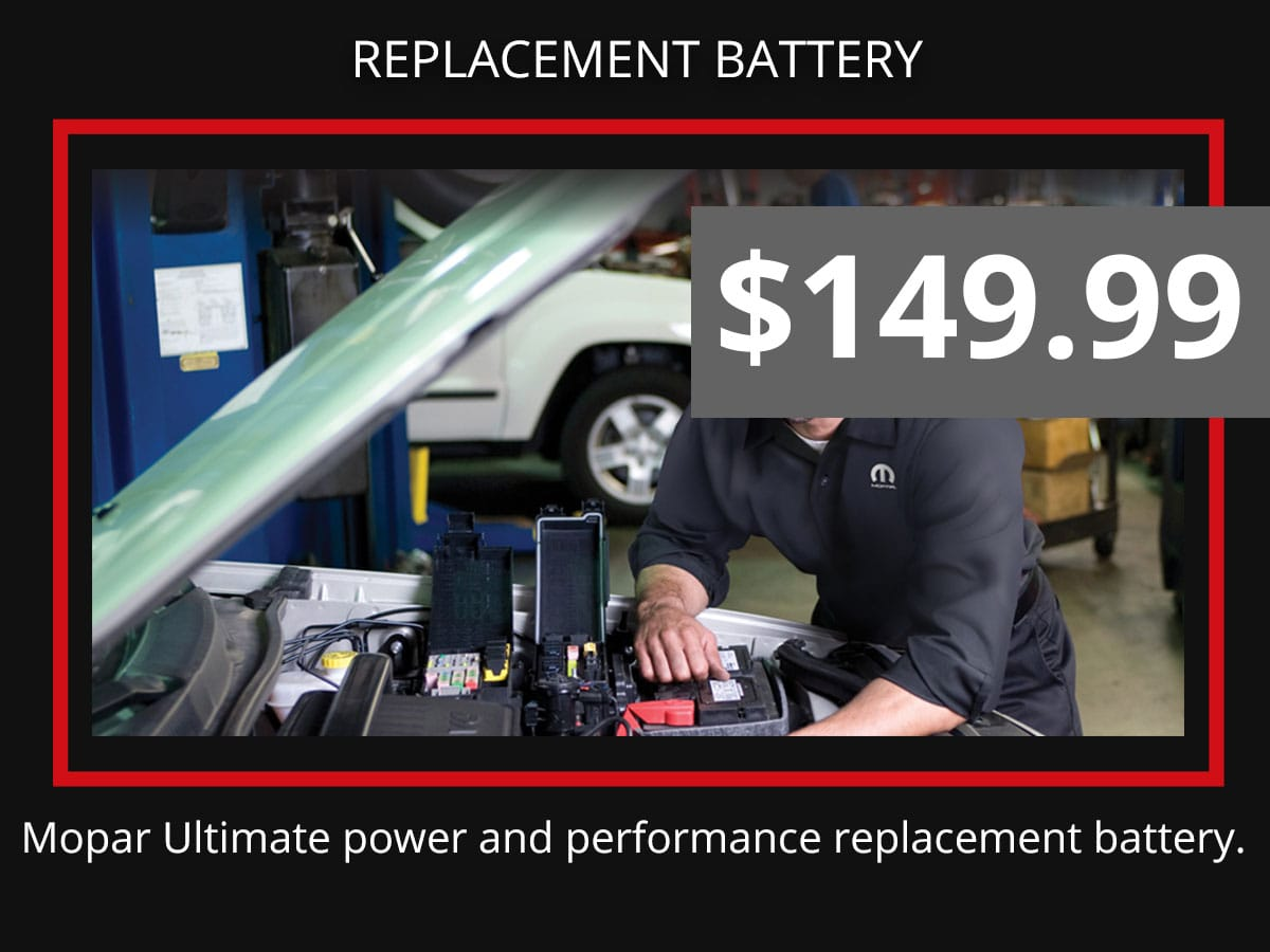 Mopar Battery Replacement Service Coupon