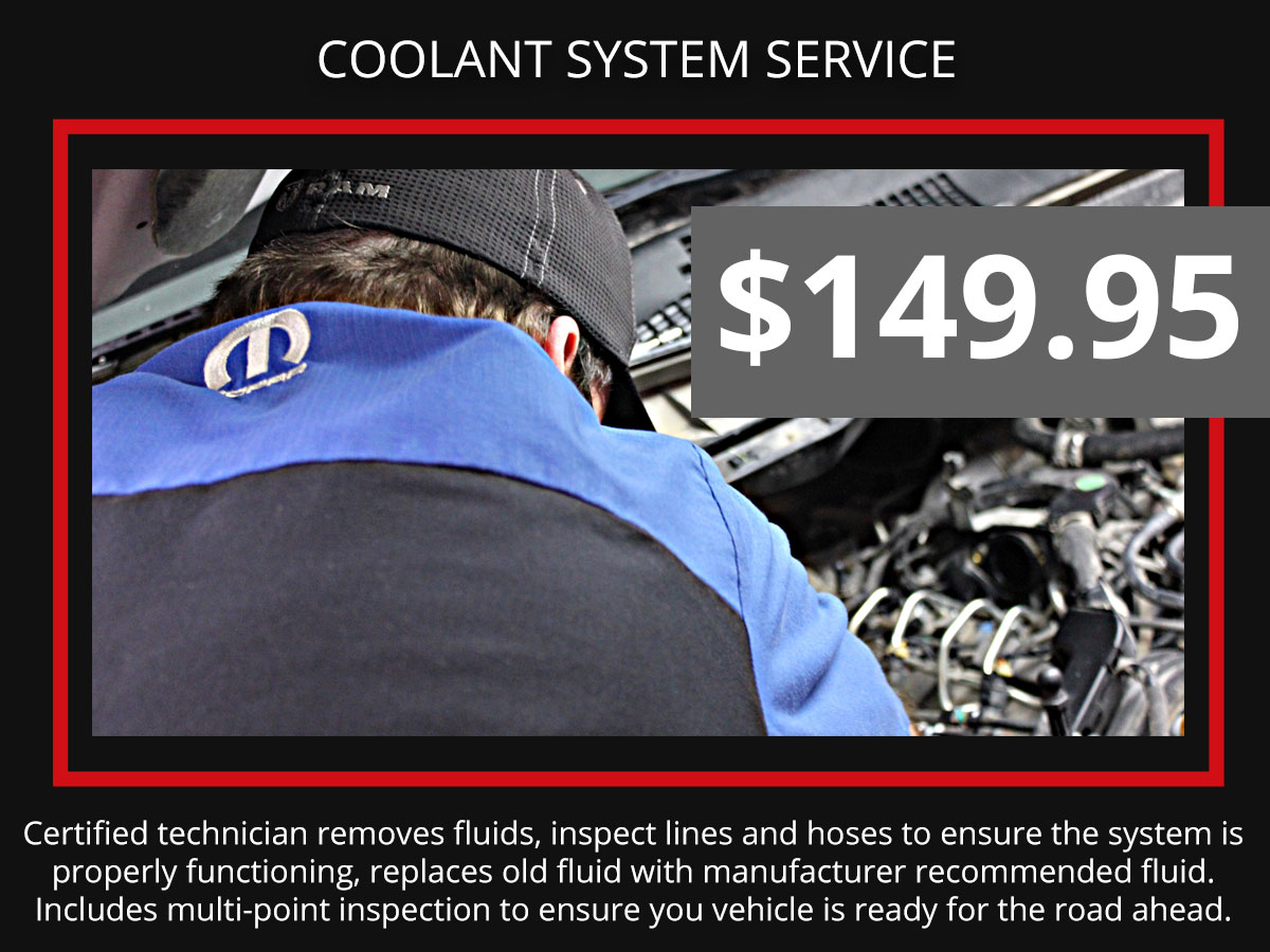 Cooling System Fluid Exchange Service Coupon Discount Special
