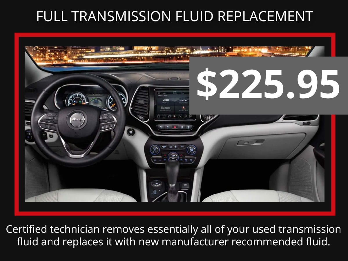 Full Transmission Fluid Exchange Discount Coupon