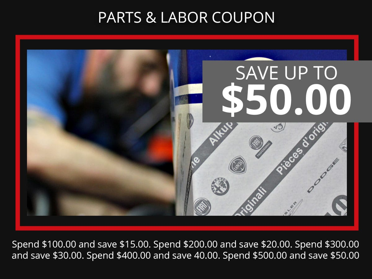 Automotive Parts and Labor Service Coupon