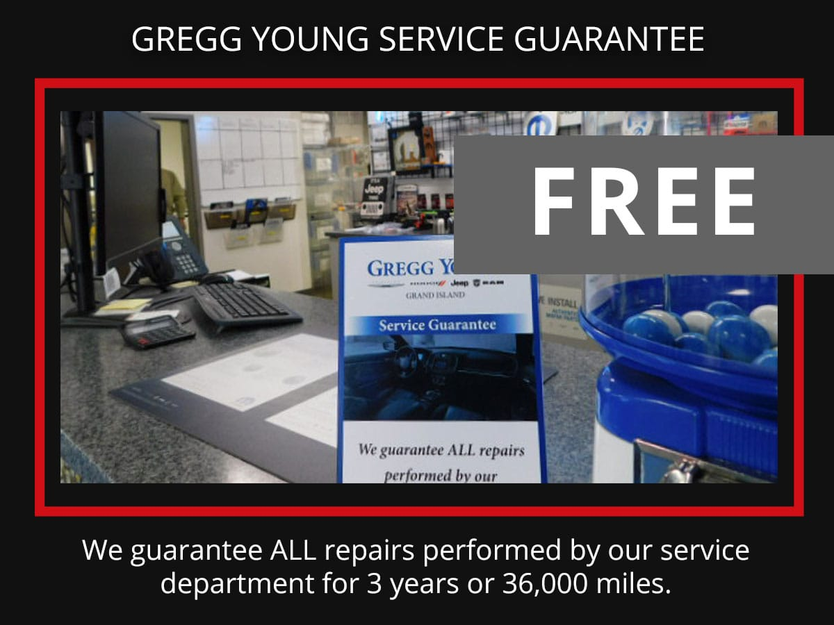 Gregg Young Guarantee with any service special Coupon