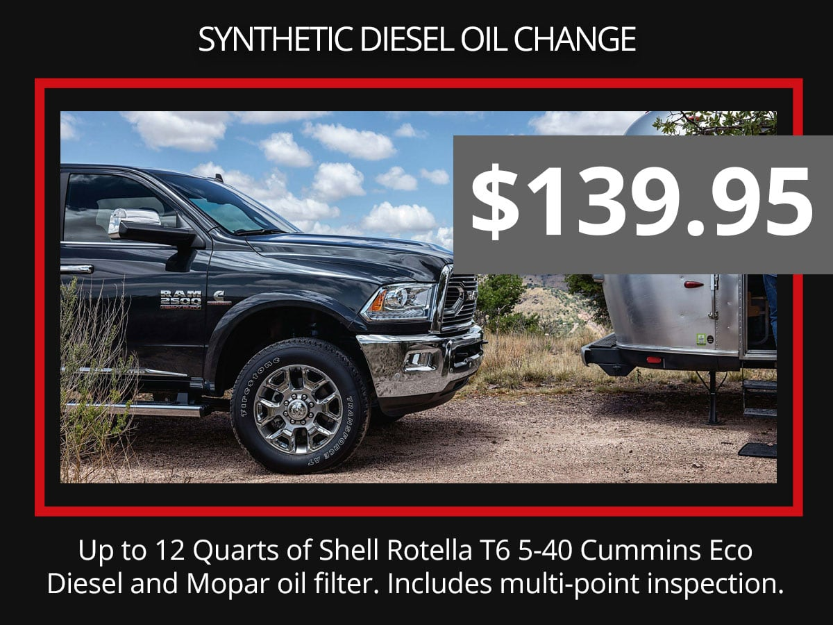 Synthetic Diesel Engine Oil Cahnge Special Service Coupon