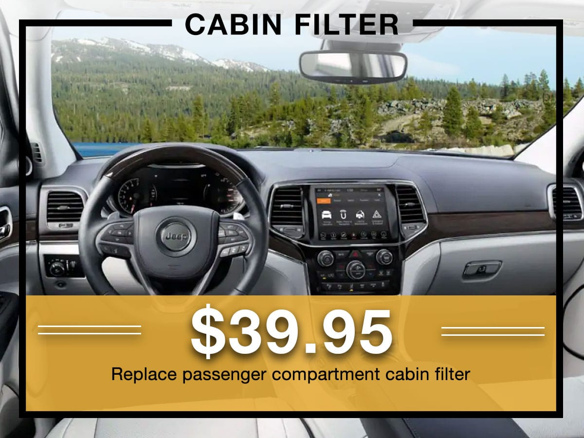 Mopar Cabin Air Filter Replacement Coupon Milwaukee, WI