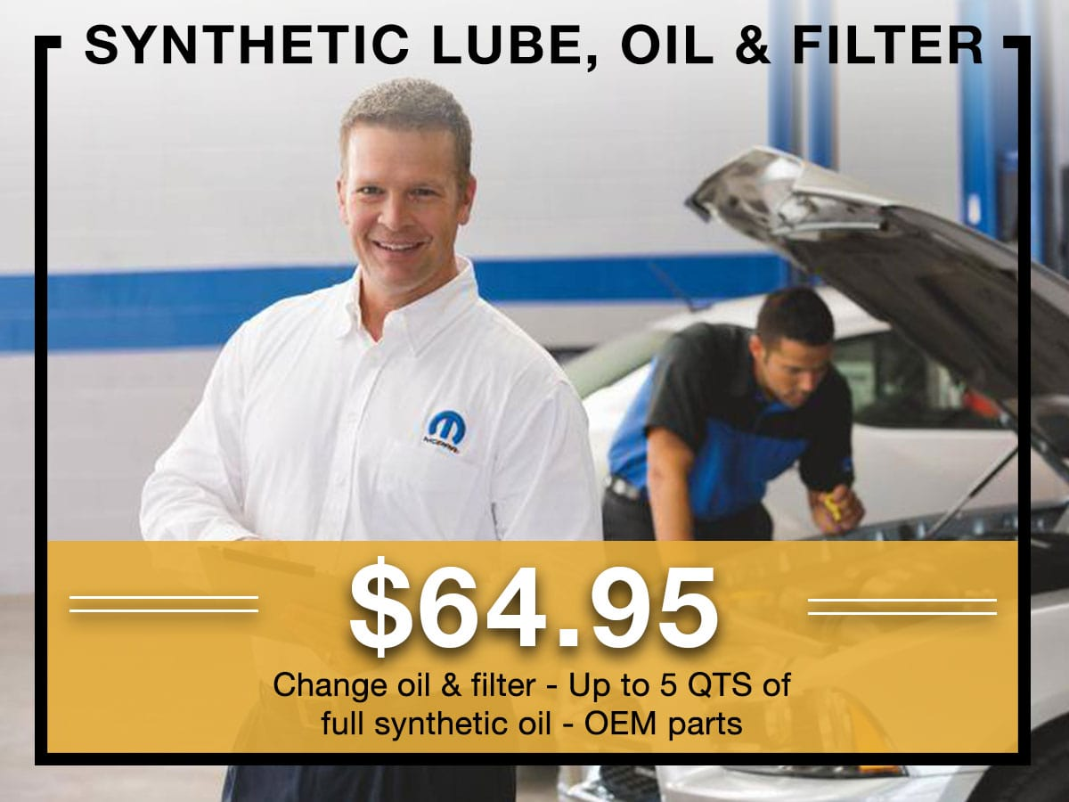 Full Synthetic Oil Change Coupon Milwaukee, WI