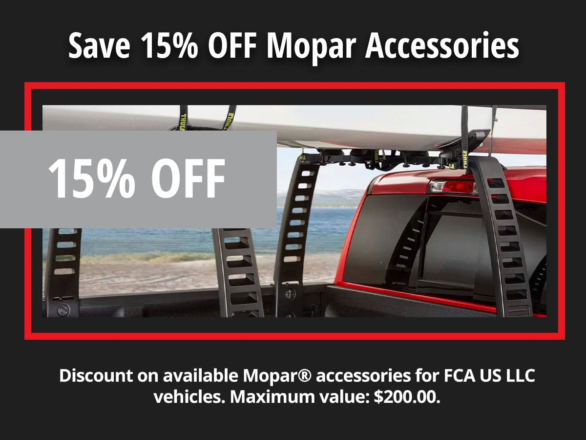 Save 15% OFF Mopar Accessories