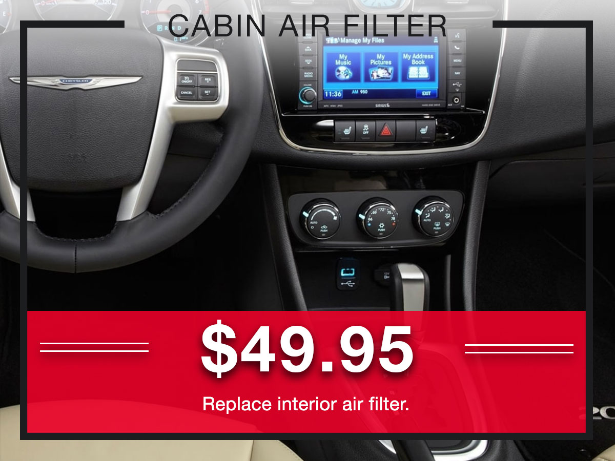 Cabin Air Filter Replacement Service Special Coupons Header Lou Fusz Chrysler Jeep Dodge Ram Fiat