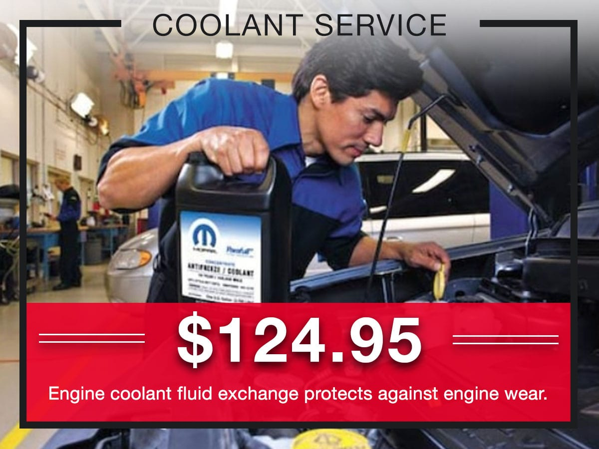 Coolant Service Special Coupons Header Lou Fusz Chrysler Jeep Dodge Ram Fiat O'Fallon, MO