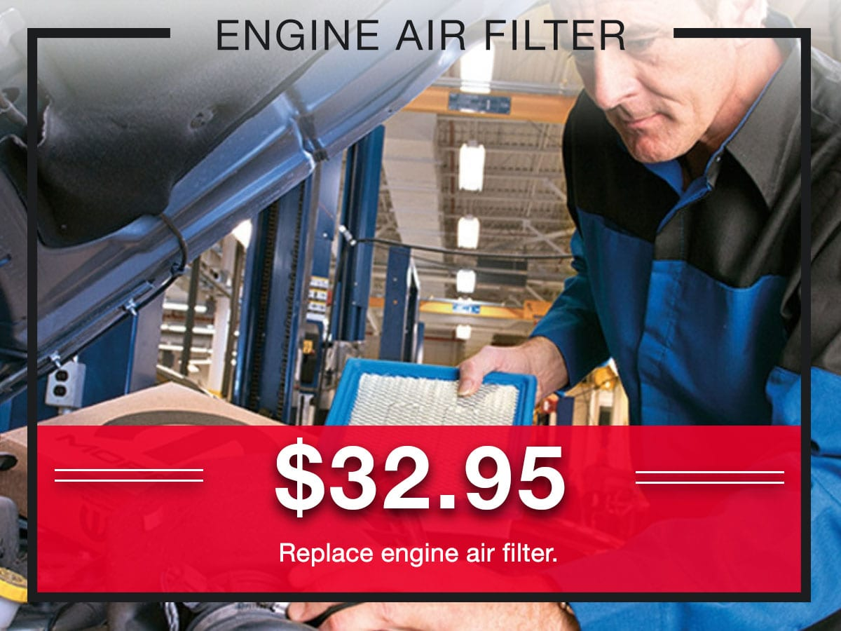 Engine Air filter Replacement Service Special Coupons Header Lou Fusz Chrysler Jeep Dodge Ram Fiat O'Fallon, MO