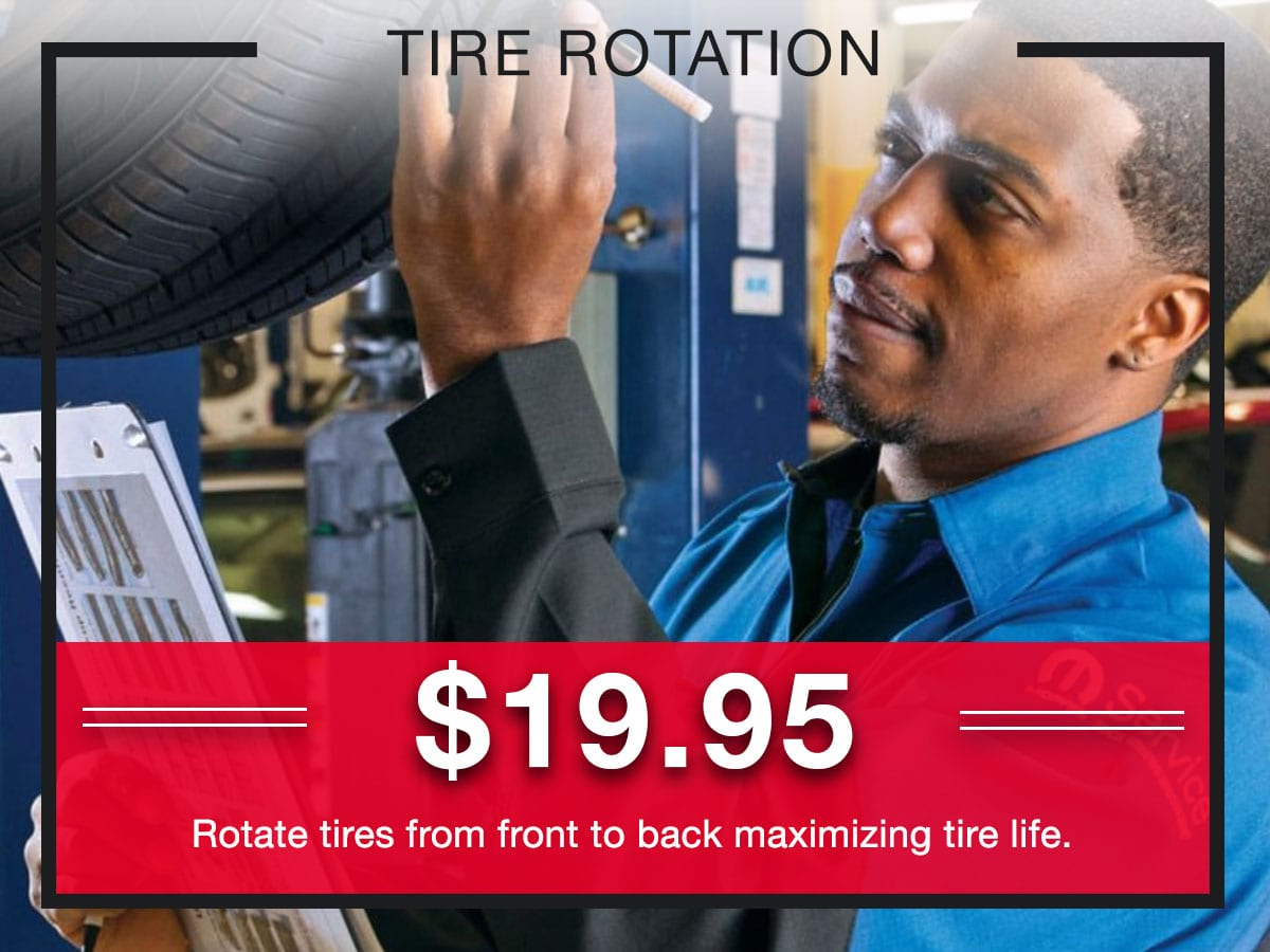 Tire Rotation Service Special Coupons Header Lou Fusz Chrysler Jeep Dodge Ram Fiat O'Fallon, MO
