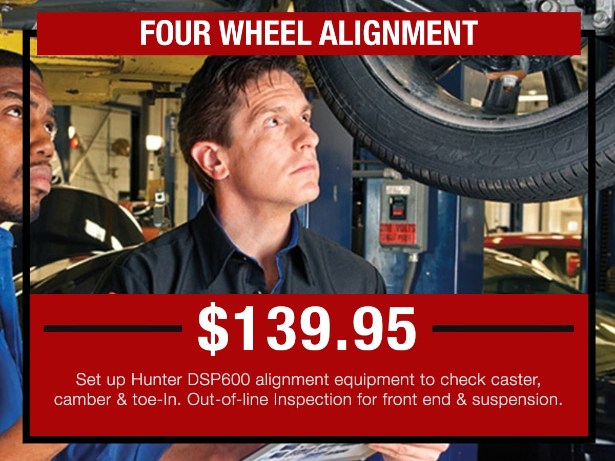 Naperville Four Wheel Alignment Service Special in Naperville, IL