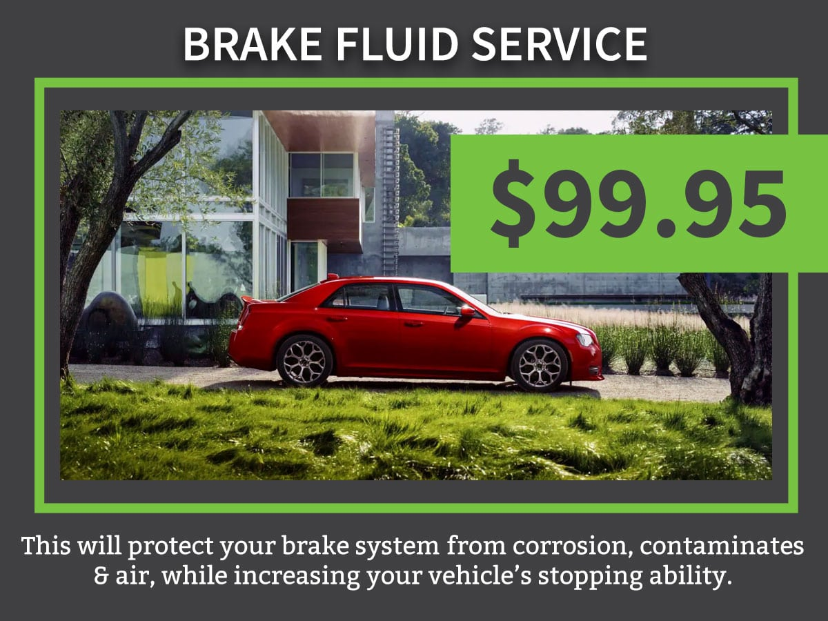Mopar CDJR Brake Fluid Exchange Service Coupon Discount Special