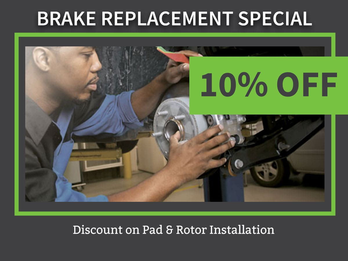 Car Brake Replacement Special Service Coupon