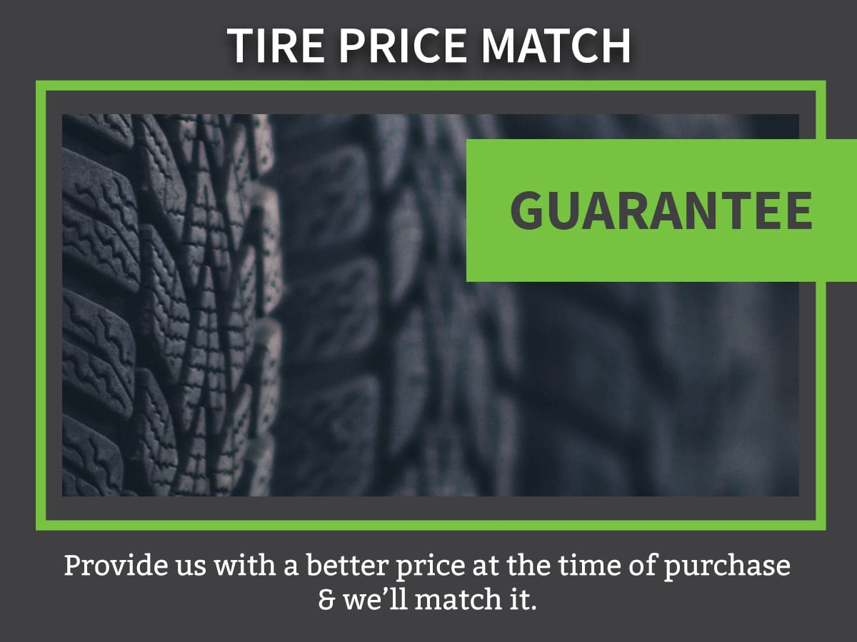 Tire Price Match Guarantee Service Coupon